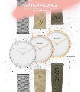 Uhren von Watchpeople mit Wechselmöglichkeit